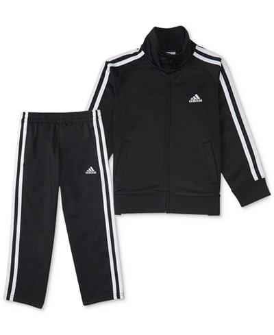 adidas 2-Pc. Tricot Jacket & Pants Set, Little Boys