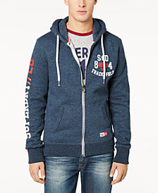 Superdry Men's Trackster Logo-Print Full-Zip Hoodie