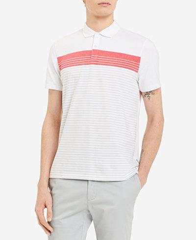 Calvin Klein Men's Liquid Touch Striped Polo
