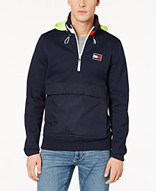Tommy Hilfiger Men's Windward 1/4-Zip Hooded Sweatshirt