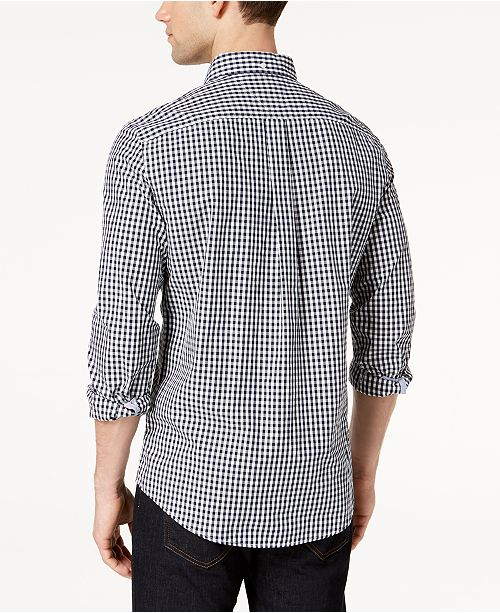 5722efaab Tommy Hilfiger Men's Long-Sleeve Twain Gingham Check Classic Fit Shirt,  Created for Macy's ...