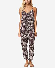 O'Neill Juniors' Valley Printed Surplice Jumpsuit