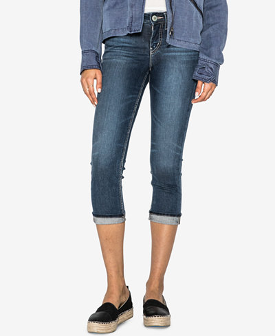 Silver Jeans Co. Curvy-Fit Cropped Jeans