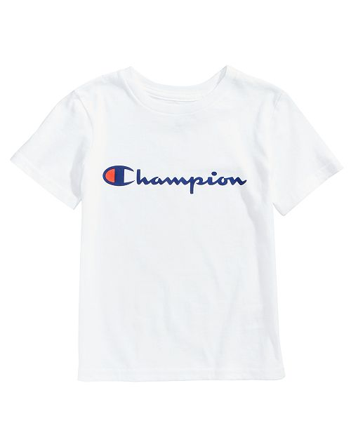 083600c73 Champion Heritage Logo-Print T-Shirt, Little Boys & Reviews - Shirts ...