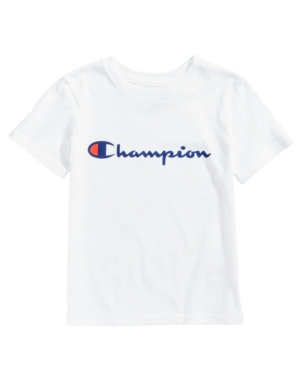 An athletic essential: Champion\'s crew-neck T-shirt boasts a comfortable loose fit and a signature logo graphic.