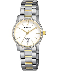 Women's Quartz Two-Tone Stainless Steel Bracelet Watch 27mm