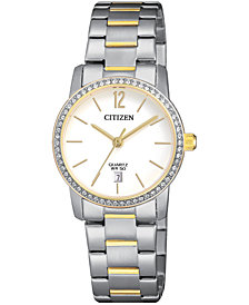 Citizen Women's Quartz Two-Tone Stainless Steel Bracelet Watch 27mm