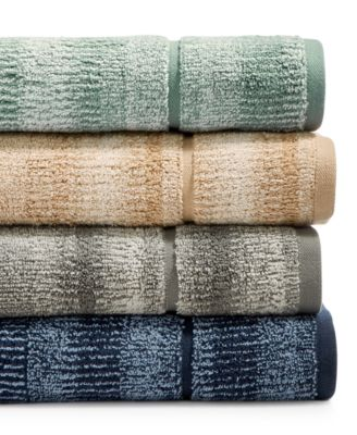 Ultimate MicroCotton Mingled Stripe Fashion Wash Towel, Created for Macy's