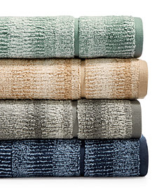 Hotel Collection Ultimate MicroCotton Mingled Stripe Fashion Wash Towel, Created for Macy's