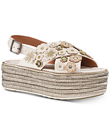 COACH Espadrille Flatform Sandals
