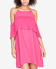 RACHEL Rachel Roy Pleated-Ruffle Cold-Shoulder Dress, Created for Macy's