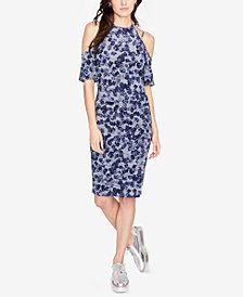 RACHEL Rachel Roy Floral-Print Cold-Shoulder Dress, Created for Macy's