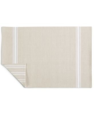 Striped Beige Cotton Placemat, Created for Macy's