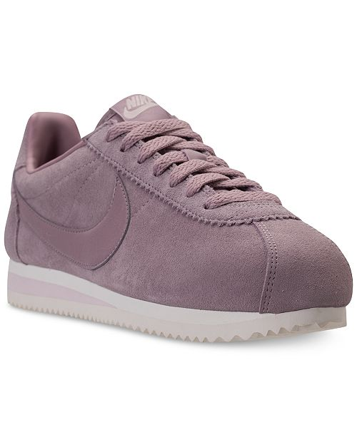 super popular 2b5d8 9f166 ... Nike Womens Classic Cortez Suede Casual Sneakers from Finish ...