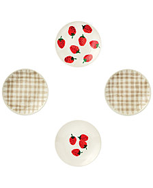 kate spade new york 4-Pc. Tidbit Plates Set, Strawberries