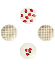 kate spade new york 4-Pc. Tidbit Plates Set, Strawberries