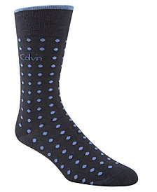 Calvin Klein Men's Dot-Print Fashion Dress Socks