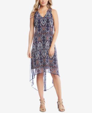 Karen Kane Printed High-Low Dress 5860809