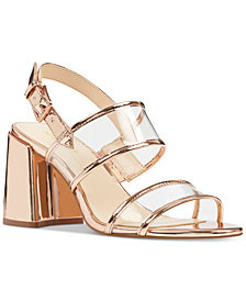 Nine West Gourdes Vinyl City Sandals