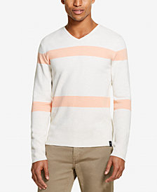DKNY Men's Striped V-Neck Sweater, Created for Macy's