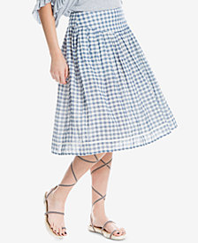 Max Studio London Cotton A-Line Skirt, Created for Macy's