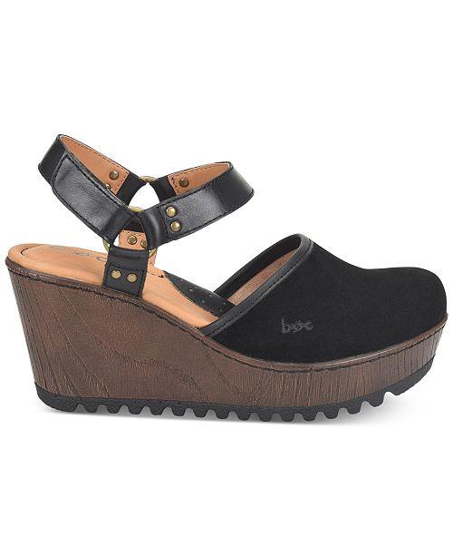 f06430b76c0e b.o.c. Rina Wooden Slingback Clogs   Reviews - Sandals   Flip Flops ...