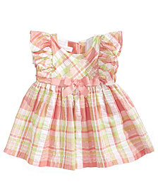 Bonnie Baby Plaid Flutter-Sleeve Sundress, Baby Girls
