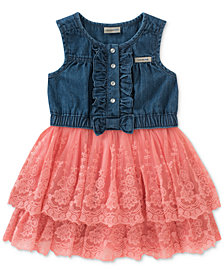 Calvin Klein Denim & Lace Sundress, Baby Girls