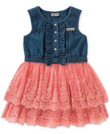Calvin Klein Denim & Lace Sundress, Baby Girls