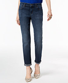 I.N.C. Cuffed Boyfriend Jeans, Created for Macy's