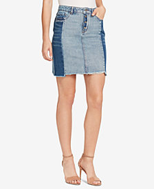 WILLIAM RAST Cotton Embroidered Denim Skirt