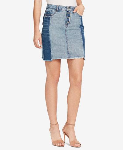 WILLIAM RAST Cotton Embroidered Denim Skirt
