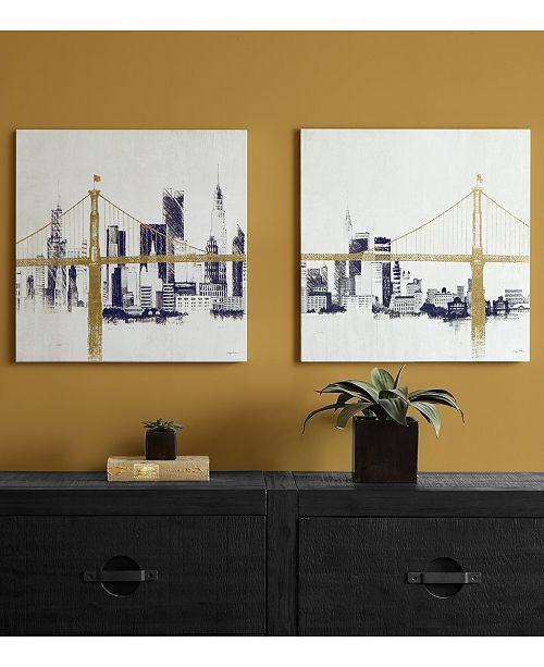 JLA Home INK+IVY \'Bridge & Skyline\' 2-Pc. Canvas Wall Art with ...