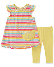 Kids Headquarters 2-Pc. Striped Tunic & Leggings Set, Baby Girls