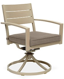 CLOSEOUT! Beach House Outdoor Swivel Rocker, with Sunbrella® Cushions, Created for Macy's