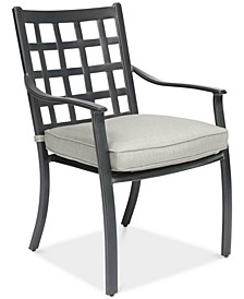 Highland Aluminum Outdoor Dining Chair with Sunbrella® Cushion, Created for Macy's
