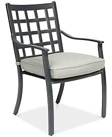 Highland Aluminum Outdoor Dining Chair with Sunbrella® Cushion, Created for Macy's