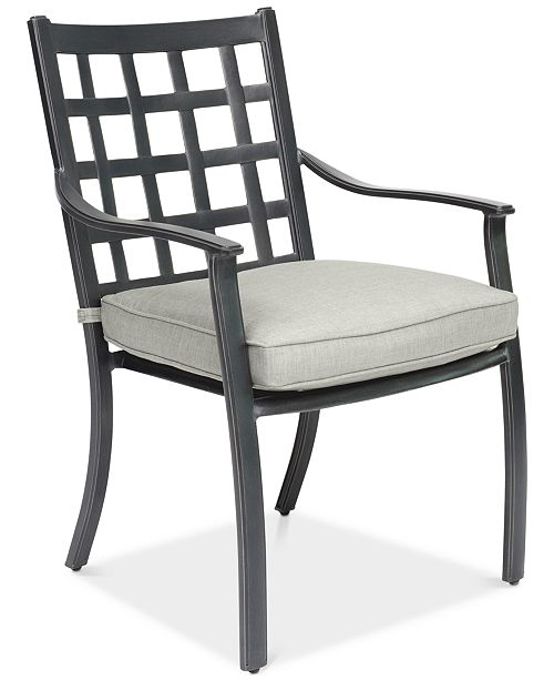 Peachy Highland Aluminum Outdoor Dining Chair With Sunbrella Cushion Created For Macys Beutiful Home Inspiration Aditmahrainfo