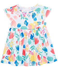 First Impressions Floral-Print Cotton Tunic, Baby Girls, Created for Macy's