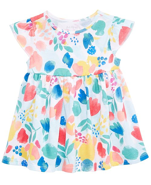 Floral-Print Cotton Tunic, Baby Girls, Created for Macy's