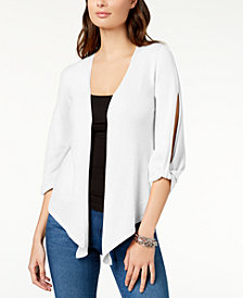 Love Scarlett Petite Asymmetric-Hem Split-Sleeve Cardigan, Created for Macy's
