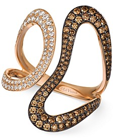 Chocolatier® Diamond Contemporary Swirl Ring (1 ct. t.w.) in 14k Rose Gold