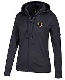 adidas Women's Boston Bruins Logo Stitched Full-Zip Hooded Sweatshirt