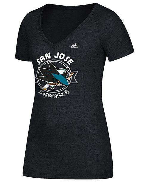 Women's San Jose Sharks Banner Dazzle T-Shirt