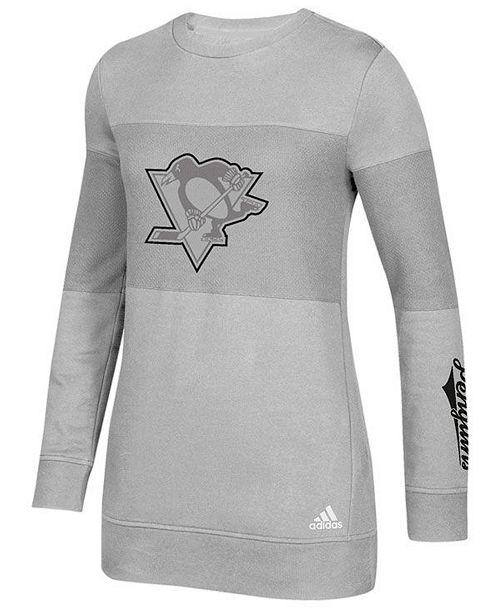 adidas Women s Pittsburgh Penguins Inside Logo Outline Sweatshirt ... e207d6c73