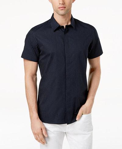 Calvin Klein Men's French-Placket Shirt