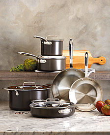 All-Clad LTD 10-Pc. Hard-Anodized Stainless Steel Cookware Set