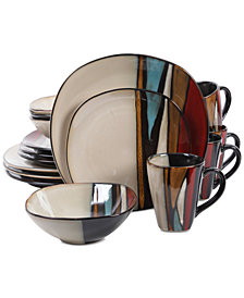 Gibson Althea Red 16-Pc. Dinnerware Set