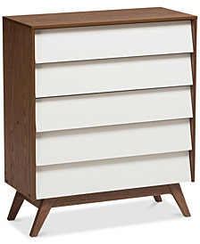 Hildon 5-Drawer Chest, Quick Ship