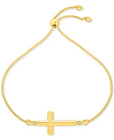 East-West Cross Bolo Bracelet in 10k Gold